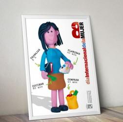 cartel 8 marzo dia mujer trabajadora
